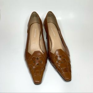 Naturalizer Pointed Toe Braided Look Brown Pump